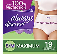 Always Discreet Underwear Small/Medium Maximum - 19 Count