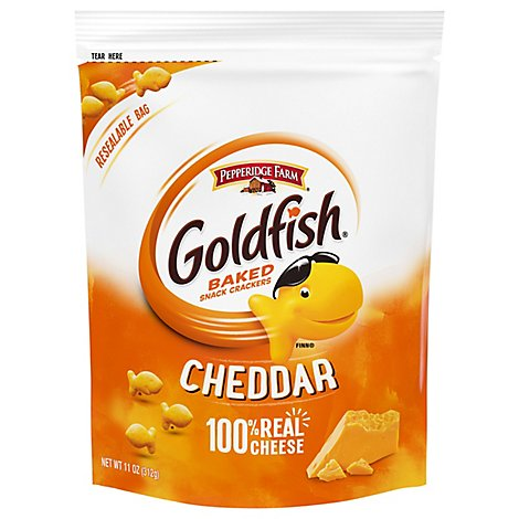 Pepperidge Farm Goldfish Crackers Baked Snack Cheddar On The GO Pack - 11 Oz