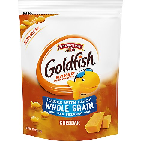 Pepperidge Farm Goldfish Crackers Baked Snack Whole Grain Cheddar On The GO Pack - 11 Oz