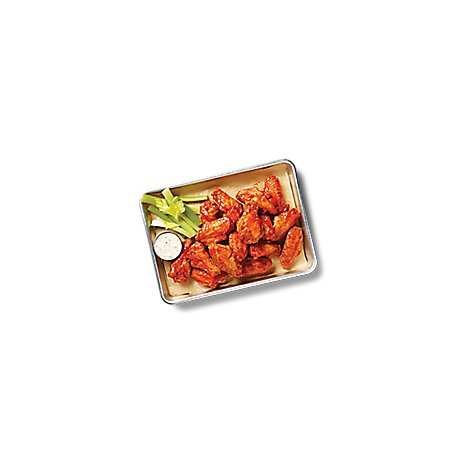 Deli Catering Tray Wings Honey BBQ With Garnish 8 Inch