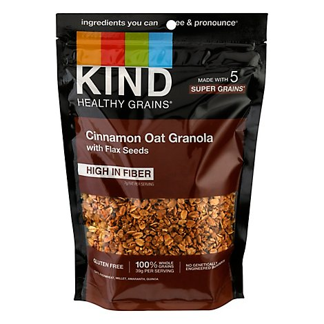 KIND Healthy Grains Clusters Cinnamon Oat with Flax Seeds - 11 Oz