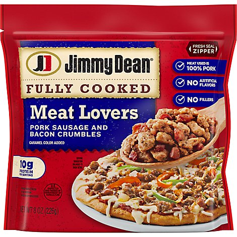 Jimmy Dean Fully Cooked Meat Lovers Crumbles - 8 Oz