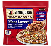 Jimmy Dean Sausage Pork And Bacon Crumbles Fully Cooked - 8 Oz