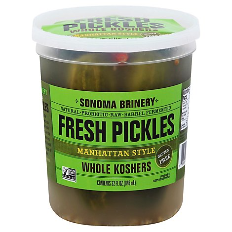Sonoma Brinery Manhattan Whl Kosher Pickles - 32 Oz