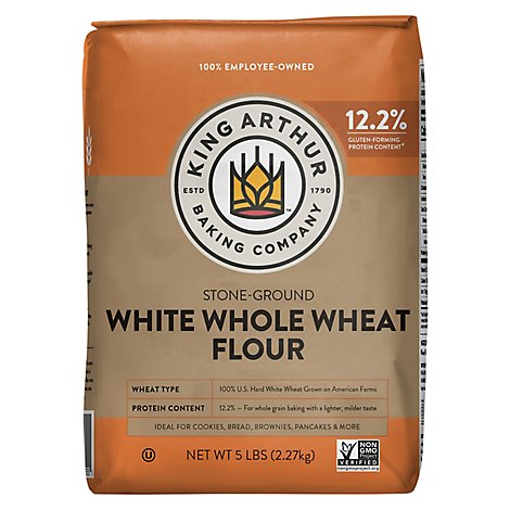 King Arthur Flour Flour Whole Wheat Stone Ground White - 5 Lb