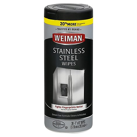 Weiman Stainless Steel Wipes - 30 Count