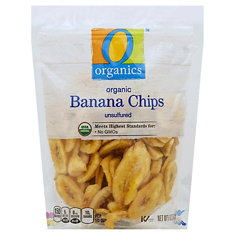 O Organics Organic Banana Chips Dried Unsulfured - 6 Oz