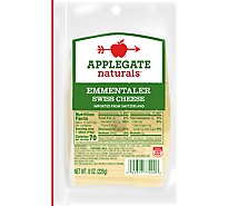 Applegate Natural Emmentaler Swiss Cheese Slices - 8 Oz