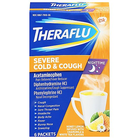 Theraflu Pain Reliever/ Fever Reducer Severe Cold & Cough - 6 Count