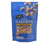 Signature SELECT Cashews Whole Roasted & Salted - 6 Oz