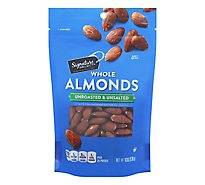 Signature SELECT Almond Whole Unroasted & Unsalted - 6 Oz