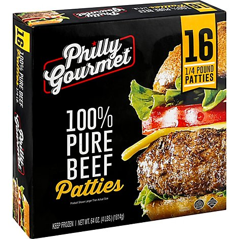 Philly Gourmet 100 Percent Beef Patty - 64 Oz