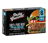 Philly Gourmet Thick And Beefy Beef Patty - 32 Oz