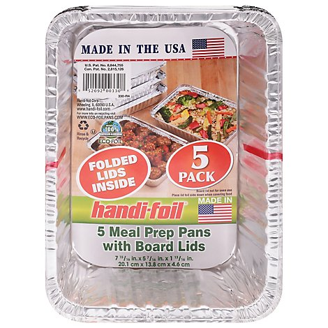 Handi Foil Storage Containers with Board Lids - 5 Count