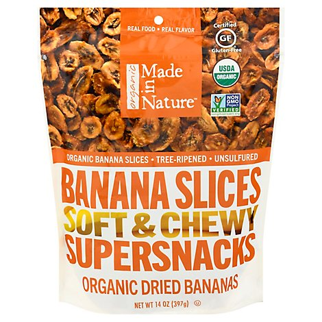 Made In Nature Organic Dried Bananas - 14 Oz.