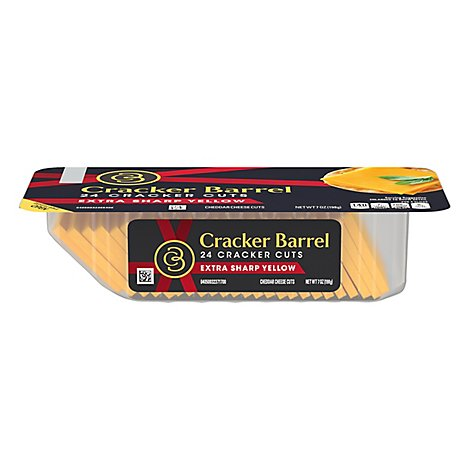Cracker Barrel Cheese Cracker Cuts Extra Sharp Cheddar - 7 Oz