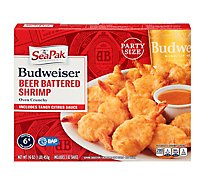 SeaPak Shrimp & Seafood Co. Shrimp Budweiser Beer Battered Oven Crunchy - 16 Oz