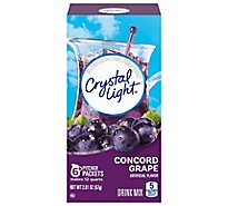 Crystal Light Drink Mix Pitcher Packs Concord Grape 6 Count Tub - 2.01 Oz