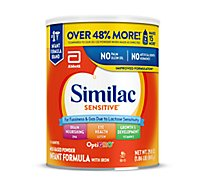 Similac Sensitive Infant Formula For Fussiness and Gas With Iron Powder - 29.8 Oz