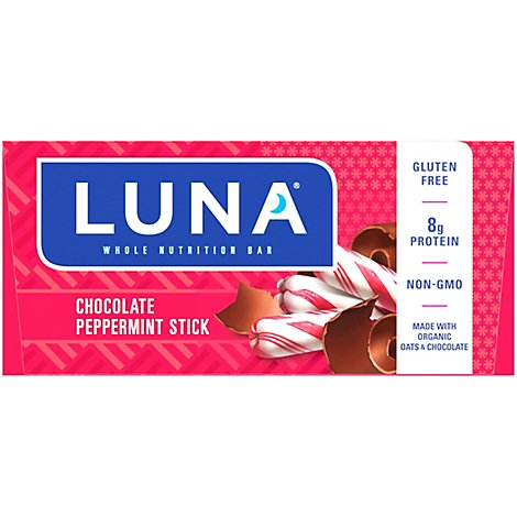 Luna Nutrition Bar Whole Chocolate Peppermint Stick - 15-1.69 Oz