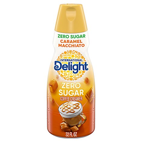 International Delight Coffee Creamer Caramel Fat Free & Sugar Free - 32 Fl. Oz.