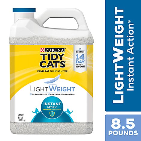 Tidy Cats Cat Litter LightWeight Instant Action Clumping For Multiple Cats Jug - 8.5 Lb