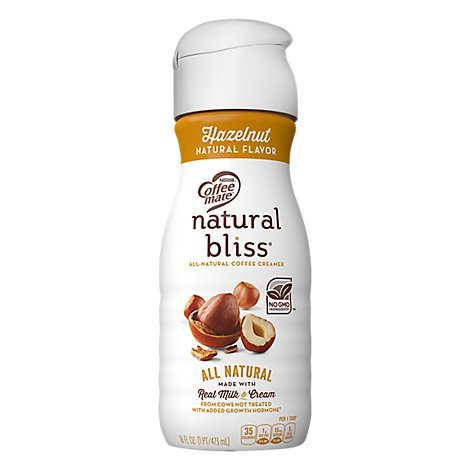 Coffeemate Natural Bliss Coffee Creamer Hazelnut - 16 Fl. Oz.