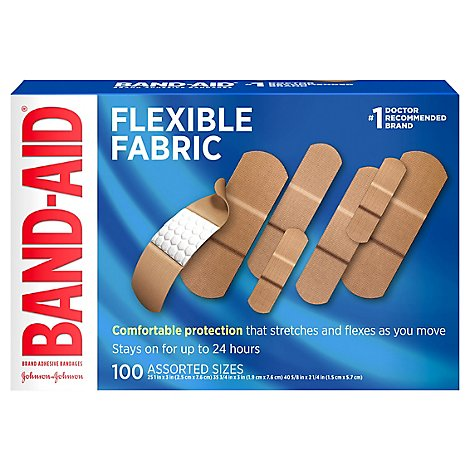BAND-AID Brand Adhesive Bandages Flexible Fabric Assorted - 100 Count
