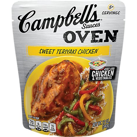 Campbells Sauces Oven Sweet Teriyaki Chicken Pouch - 12 Oz