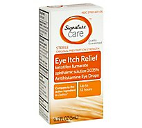 Signature Care Eye Itch Relief Original Prescription Strength Sterile - 0.17 Oz