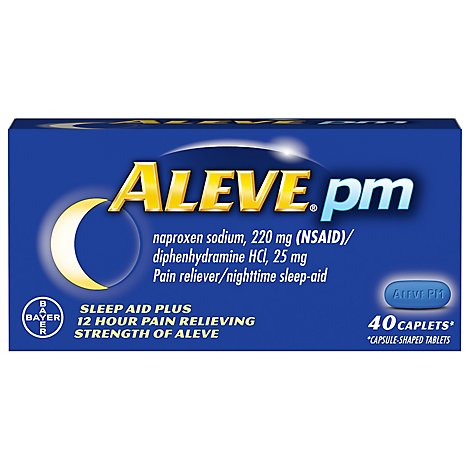 Aleve PM Naproxen Sodium Caplets - 40 Count
