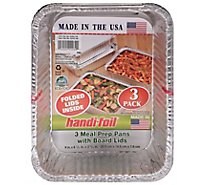 Handi-Foil Storage Containers With Board Lids Deep - 3 Count