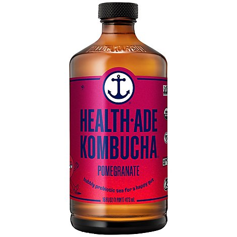 Health-Ade Kombucha Pomegranate - 16 Fl. Oz.