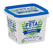 Odyssey Feta In Brine Chunk Cheese - 8 Oz