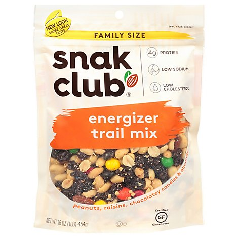 SnakClub Family Size Trail Mix Energizer - 16 Oz