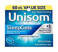 Unisom SleepGels Nighttime Sleep-Aid SoftGels - 60-50 mg