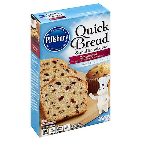 Pillsbury Quick Bread & Muffin Mix Cranberry - 15.6 Oz