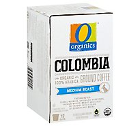 O Organics Coffee Organic Arabica Single Serve Cups Medium Roast Colombian - 12-0.38 Oz