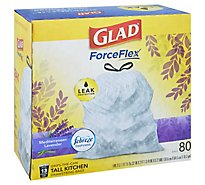 Glad Trash Bags Tall Kitchen Drawstring Odor Shield Lavender - 80 Count