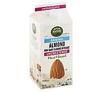 Open Nature Almond Milk Original Unsweetened Half Gallon - 64 Fl. Oz.