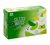 Signature SELECT Seltzer Water Lime - 24-12 Fl. Oz.