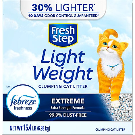 Fresh Step Cat Litter Clumping Lightweight Extreme With Febreze Fresh Clean Scent Box - 15.4 Lb