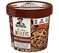 Real Medleys Oatmeal+ Super Grains Maple Pecan Raisin Flavored - 2.46 Oz