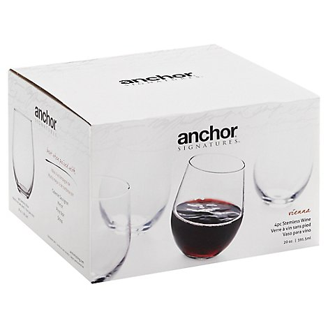 Vienna Stemless Red Wine 4pk 20oz - 4 Count