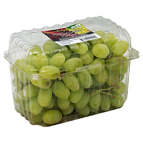 Grapes Green Organic Prepacked - 2 Lb