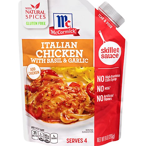 McCormick Sauce Skillet Italian Chicken With Basil & Garlic Pouch - 9 Oz