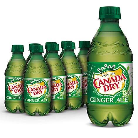 Canada Dry Soda Ginger Ale Diet - 8-12 Fl. Oz.