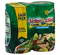 Chicken of the Sea Chunk Light Tuna in Water Chunk Style- 10-5 Oz
