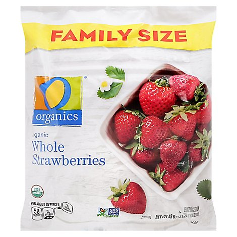 O Organics Organic Strawberries Whole Family Pack - 48 Oz