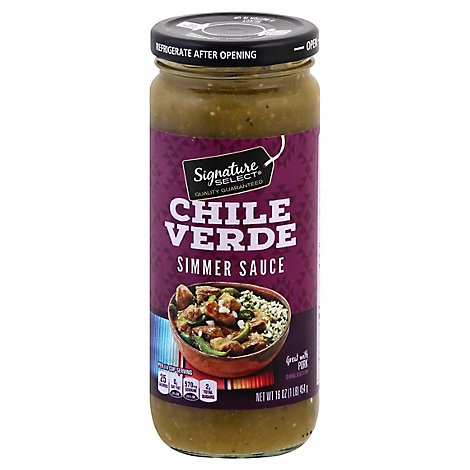 Signature SELECT Slow Cooker Sauce Chile Verde Jar - 16 Oz